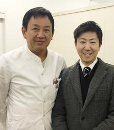 医療法人深緑会 田邊整形外科医院 田邊 隆敏理事長とのツーショット写真